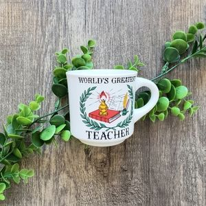 Vintage World's Greatest Teacher Mug